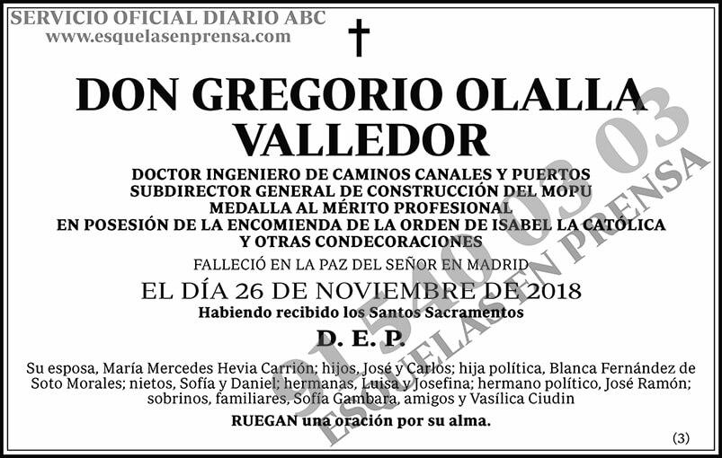 Gregorio Olalla Valledor